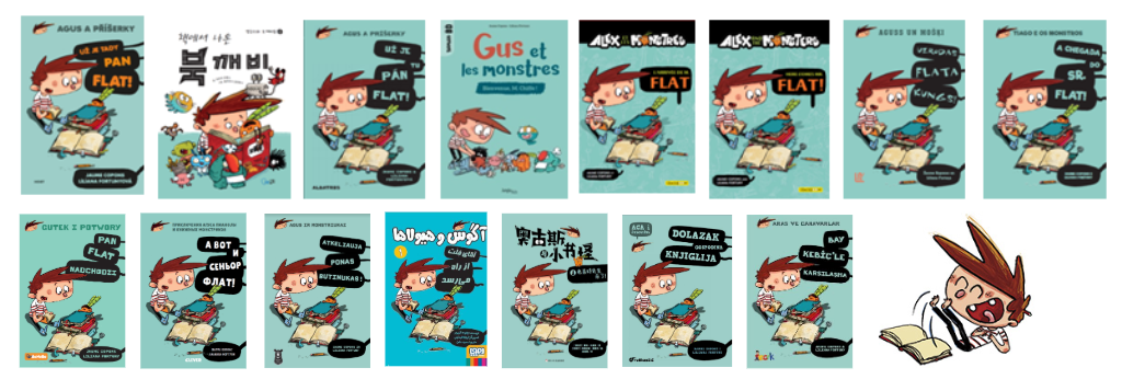 Agus and Monsters -foreign languages - foreign rights - Here comes Mr. Flat - Copons and Fortuny
